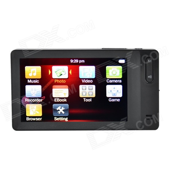 3.0 TFT LCD Screen HD MP5 Player w/ Camera + TF Card Slot + FM - Black (8GB) usb rechargeable mini 1 44 lcd 2 0m pixels cmos video camera red tf slot