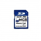 SD Memory Card w/ Case - Deep Blue (64GB / Class 10)