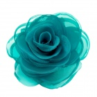 EQute Elegant Fashionalbe Solid Rose Flower Headdress Hair Clips / Corsage - Green