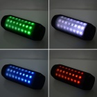 Portable Wireless Bluetooth V3.0 Car Speaker w/ Mic. / FM / Colorful Lights / TF Card Slot - Black