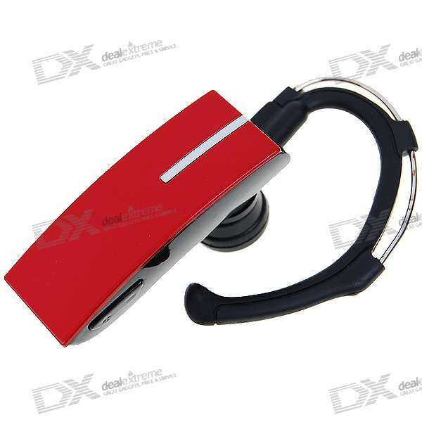 Hook Style Stylish Bluetooth Handsfree Headset - Red (4.5-Hour Talk/150-Hour Standby)