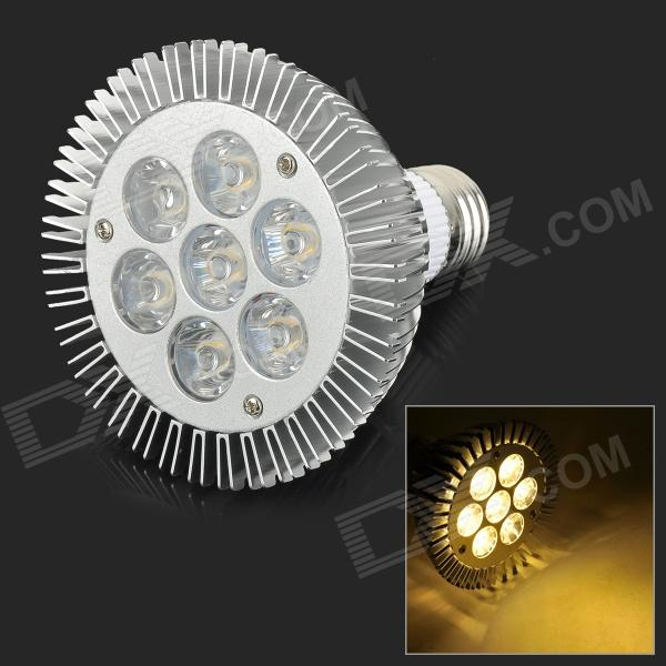 JRLED E27 7W 500lm 3300K 7-LED Warm White Light Spotlight - White + Silver (AC 85~265V)