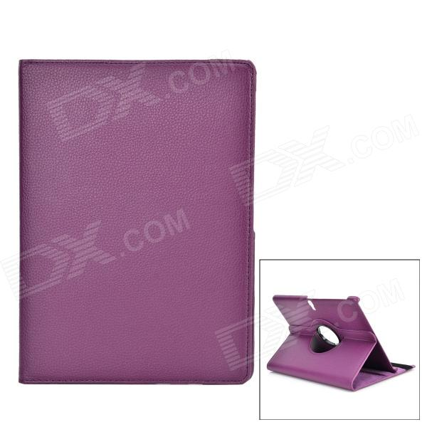 Protective Rotatable PU Leather Full Body Case w/ Stand for 10.5 Samsung Galaxy Tab S - Purple business ultra thin smart pu leather book cover for samsung galaxy tab s 10 5 t800 t805 tablet case free screen protector pen