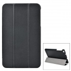 Protective Three-Folding PU + PC Full Body Case w/ Stand for ASUS ME181 - Black