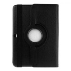 360° Rotatable PU Full Body Case w/ Stand for Galaxy Tab4 - Black