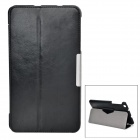 Protective Two-Folding PU + PC Full Body Case w/ Stand for ASUS ME181 - Black