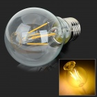 E27 4W 380lm 3000K Warm White Light LED Filament Bulb - Transparent