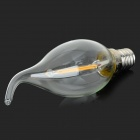 E14 2W 180lm 3000K Warm White Light 2- LED Filament Bulb - Transparent