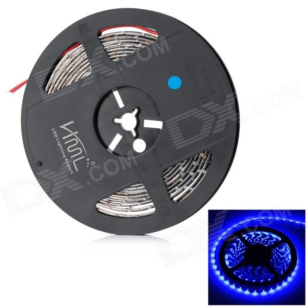 HML B28 PCB Waterproof 36W  300 x SMD 3528 LED Blue Light Multi-purpose Decorative Light Strip (5m) hml b28 water resistant 36w 1600lm 670nm 300 smd 3528 led red light strip black dc 12v 5m