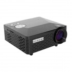 Geekwire LP-6B Portable FHD 1080P LED Projector w/ HDMI, VAG, USB 2.0, AV, SD - Black (EU Plug)