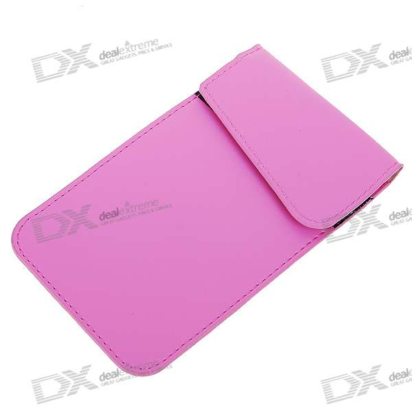 Cell Phone Signal Shield/Block Soft Leather Pouch (Pink)