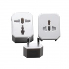 Universal 3A US / EU / UK Power Plug Adaptor Set - White (250V)