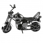 DF-020 Retro Desk Decoration Motorcycle Toy w/ Rotatable Wheels / Front - Silvery Grey