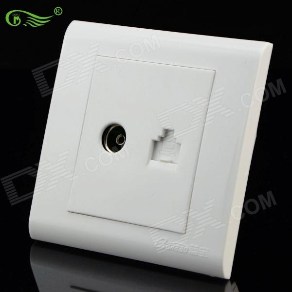 SMKJ B1XQY Network / TV Connecting Mount Panel - White
