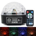 HML QS-607R 20W 160lm 8-LED RGB Kristall Magic Ball Licht w / Fernbedienung - Schwarz (AC 100 ~ 240V)
