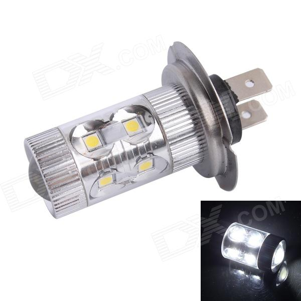 H7 60W 500LM 6500K 12-SMD LED White Light Foglight Headlamp for Car (DC12-24V)