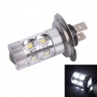 H7 60W 500LM 6500K 12-Samsung SMD LED White Light Foglight Headlamp for Car (DC12-24V)