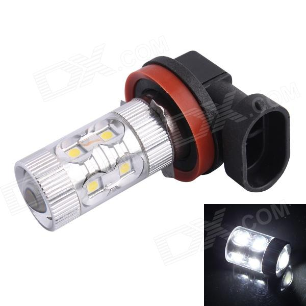 H11 60W 650LM 6500K 12-SMD LED White Light Foglight Headlamp for Car (DC12-24V) лампа автомобильная avs atlas anti fog h27 881 12v 27w