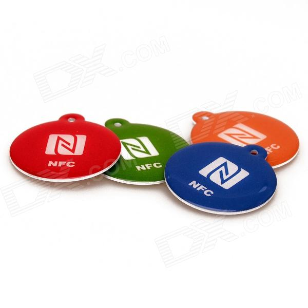 NXP Ntag216 888 Bytes 13.56MHz Smart NFC Tags for Cellphones - Red + Green + Blue + Orange (4 PCS)