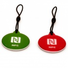 NXP Ntag216 888 Bytes 13.56MHz Smart NFC Tags for Cellphones - Red + Green (2 PCS)