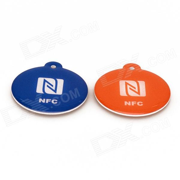 NXP Ntag216 888 Bytes 13.56MHz Smart NFC Tags for Cellphones - Blue + Orange (2 PCS) waase left