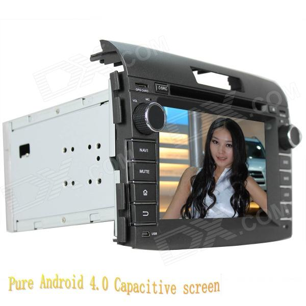 цена на LsqSTAR 7 Android Capacitive Screen Car DVD Player w/ GPS FM WiFi BT SWC CanBus AUX for Honda CR-V