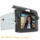 "LsqSTAR 7"" Android Capacitive Screen Car DVD Player w/ GPS FM WiFi BT SWC CanBus AUX for Honda CR-V"