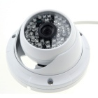 "3510W 1/4"" CMOS 900TVL 3.6mm Lens CCTV Camera w/ 48-IR-LED - White (PAL)"