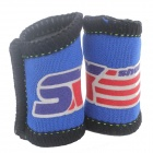 ShuoXin SX500 Sports Exercise Neoprene + Nylon Long Finger Sleeve Guard - Blue + Black (2PCS)