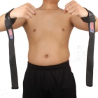 ShuoXin SX511 Protective Padded Weight Lifting Bar Support Wrist Strap - Black (Pair)