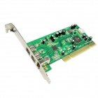 IOCREST IO-PCI8280-2B1A PCI to 3-Port 1394(1-1394A and 2-1394B) Card TI8280 Chipset - Green