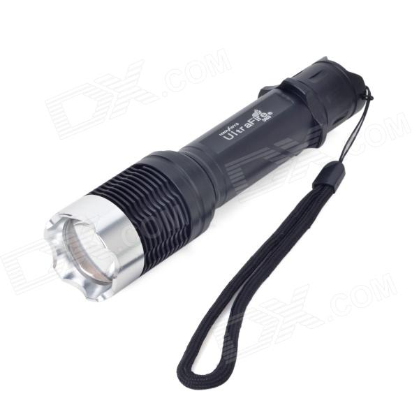 UltraFire S609 LED 580lm 5-Mode White Light Zooming Flashlight - Black (1 x 18650 /3 x AAA) ultrafire 8xt6 8 led 5000lm 5 mode white light flashlight w strap black 4 x 18650