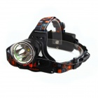 BORUIT RJ-1188A 800lm LED 3-Mode White Light Bicycle Lamp / Headlight - Black