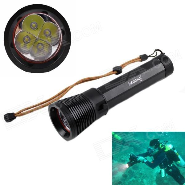 KINFIRE KS40 2600lm Cool White 4-LED IPX8 Waterproof Diving Flashlight