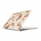 "Hat Flowers Pattern Protective Full Body Matte Case for MacBook Air 11.6"" - Multicolor"