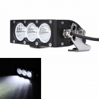 MZ 30W 2400LM 6500K LED Floodlight Car Work Light Bar / Headlamp - Black (10~30V)