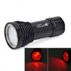 UltraFire LU-5 Cree XM-L T6 White + Cree XP-E N3 Red 3-Mode Diving Flashlight - Black (1 x 32650)