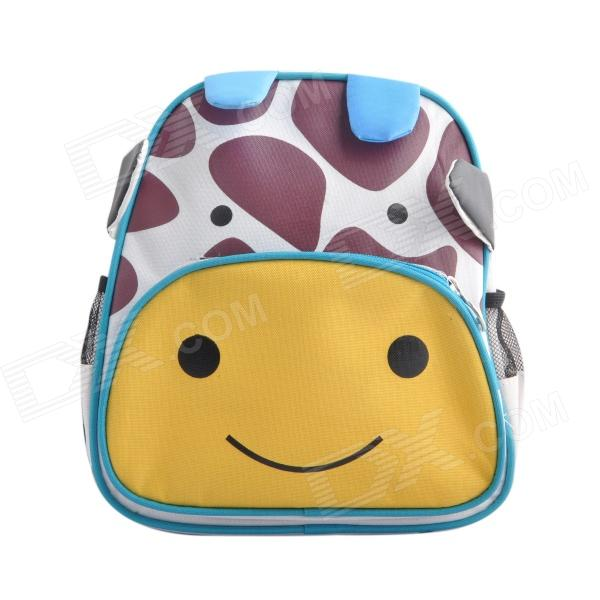 Children's Giraffe Cartoon Animal Backpack School Bag - Yellow + Coffee + Blue hot selling anime inuyasha sesshoumaru cosplay shoulders oxford bag backpack cartoon cute schoolbag satchel book bags