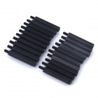ZnDiy-BRY M3 x 25 + 6 Nylon Spacer Hex Nylon Pillars for Multicopter RC Model - Black (20 PCS)