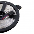KINFIRE R50 Dual-rivinen 144W 5500lm 600-SMD 5050 LED RGB nauhat - musta + valkoinen (DC 12V / 5M)