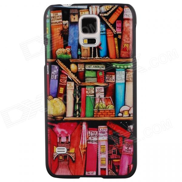 Elonbo Mini Small Bookcase Design Style Hard Back Case Cover for Samsung Galaxy S5 protective 0 2mm thin abs back case for samsung galaxy s5 translucent red