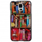 Elonbo Mini Small Bookcase Design Style Hard Back Case Cover for Samsung Galaxy S5