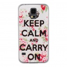 Elonbo Keep Calm Lichee Pattern Design Style Hard Back Case Cover for Samsung Galaxy S5