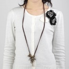 Retro Fashionable Zinc Alloy Sweater Chain / Necklace for Women - Bronze