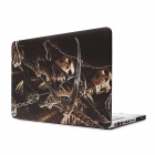 "Hat Prince Skeleton Pattern Protective Full Body Matte Case for 15.4"" MacBook Pro - Brown + Black"