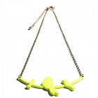 Catwalk88 Fashionable Necklace w/ Bird Detail - Yellow