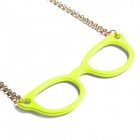 Catwalk88 Stylish Sunglasses Pendant Necklace - Yellow