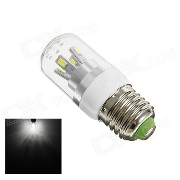 TZY 2312 E27 5W 190lm 6500K 8-SMD 5730 LED White Corn Lamp - White + Silver (AC 220~240V) lexing lx r7s 2 5w 410lm 7000k 12 5730 smd white light project lamp beige silver ac 85 265v