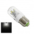 TZY 2312 E27 5W 190lm 6500K 8-SMD 5730 LED White Corn Lamp - White + Silver (AC 220~240V)