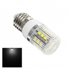 U7 E27 3W 180lm 6500K 27-SMD 5050 LED White Corn Lamp - White + Silver (AC 220~240V)